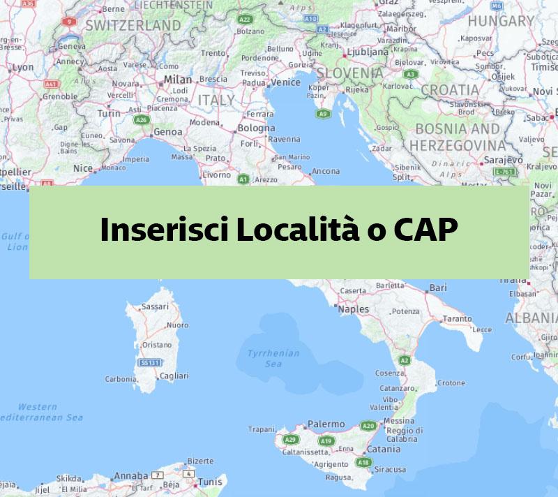 Inserisci Località o CAP